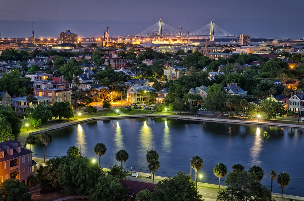 Image result for charleston sc night